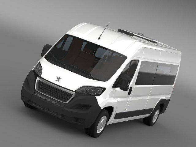Peugeot Boxer Minibus 2014 3D Model