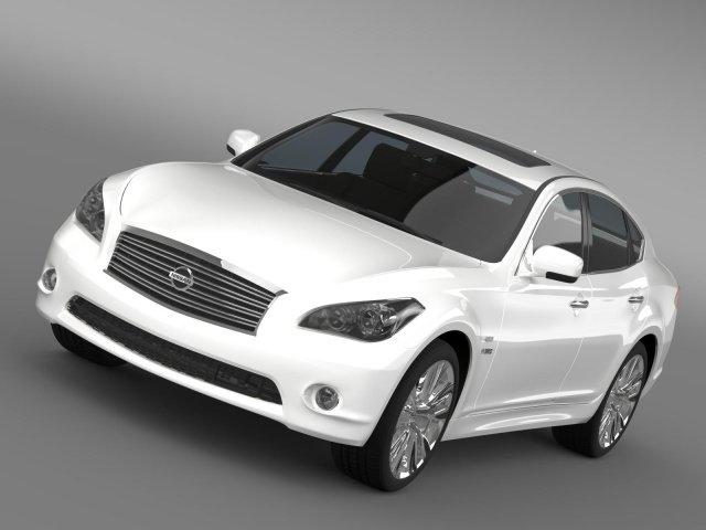 Nissan Fuga Hybrid Y51 3D Model