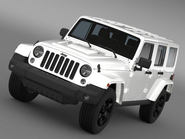 Jeep Wrangler Black Edition 2 2015 3D Model