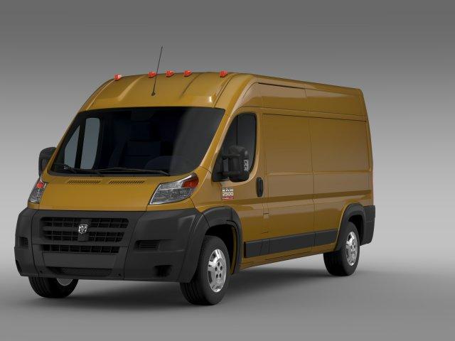 Ram Promaster Cargo 2500 HR 159WB 2015 3D Model