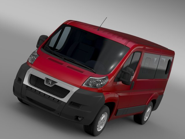 Peugeot Boxer Window Van L1H1 2006-2014 3D Model