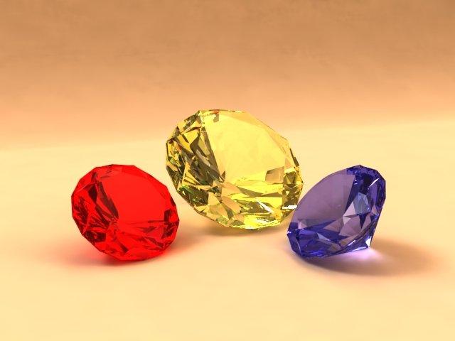 Download free Diamonds 3D Model