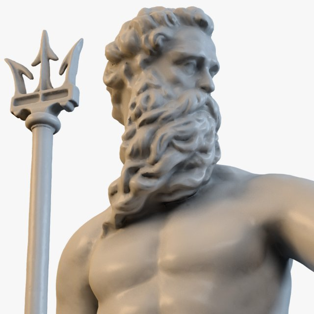 Sea God Poseidon 3D Model
