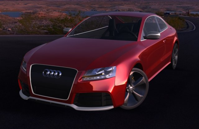 Audi RS5 Rigged 3D Model