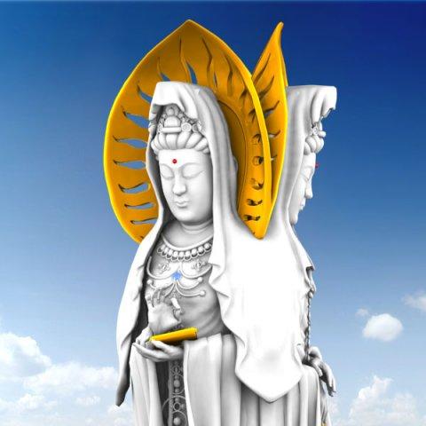 Buddhist Goddess Guanyin 3D Model