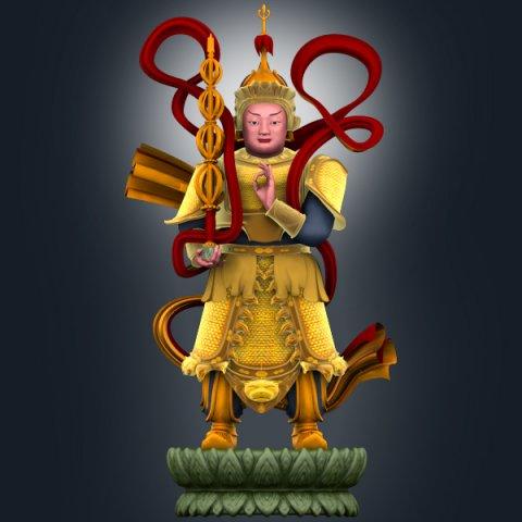 Veda Bodhisattva 3D Model