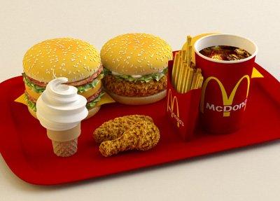 Mcdonalds Food 3D Model