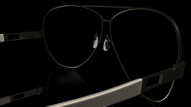 Teardrop Sunglasses 3D Model