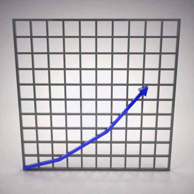 Arrow Graph 3D Model