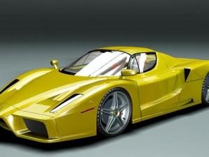 Ferrari Enzo Yellow HighPoly