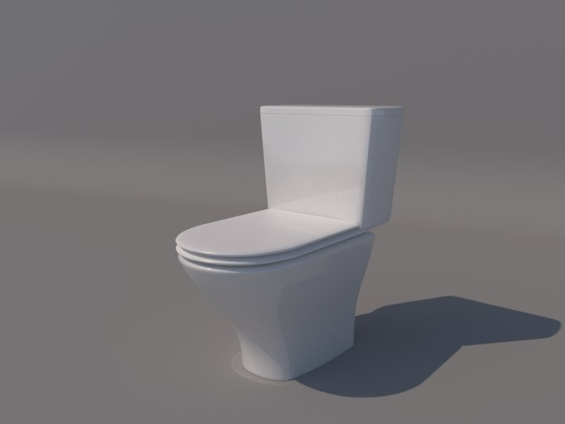 Toilet low poly 3d model in bathroom 3dexport