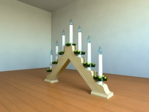 Christmas Candle Bridge