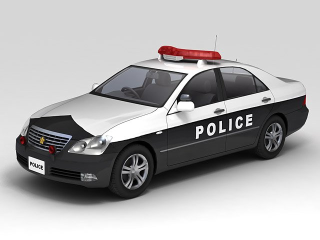 Police Car 3d Model In Compact Cars 3dexport