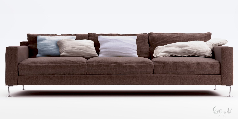 Modern sofa 3d model in sofa 3dexport