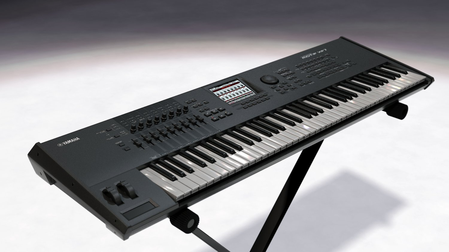 Yamaha MOTIF XF7 3D Model in Piano 3DExport