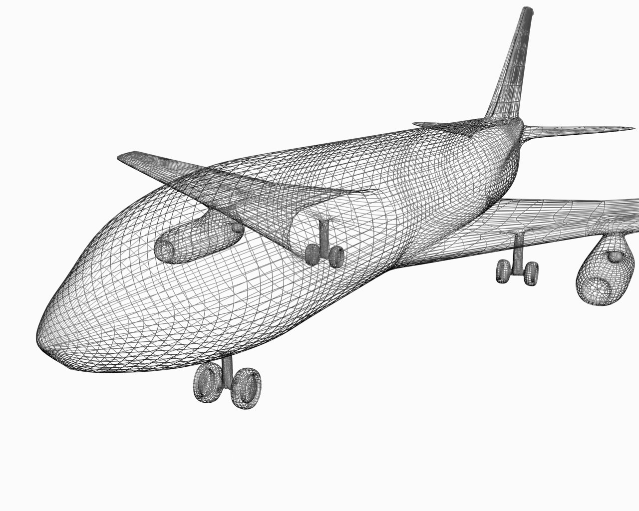 Plane without texture 3D Model in Commercial 3DExport