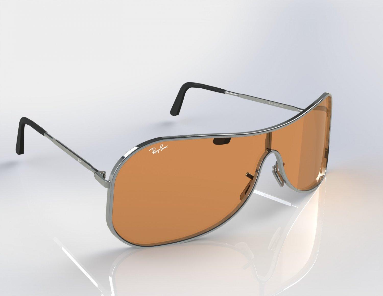 68d40da97 Rayban Shield sunglasses Model RB3211 3D Model in Jewellery ...