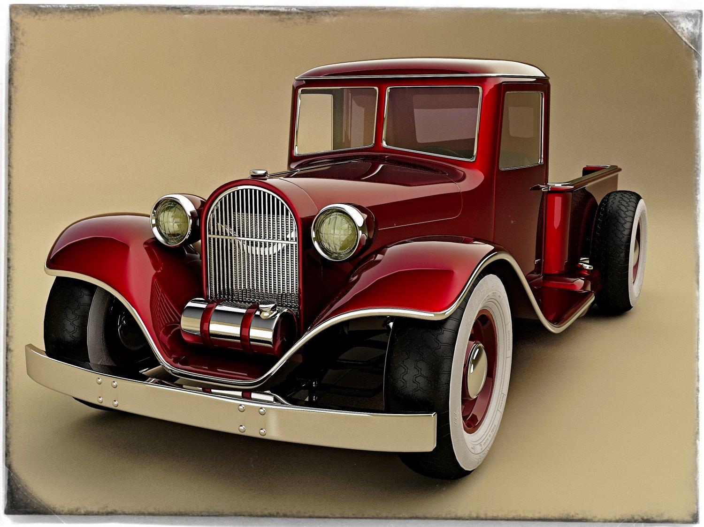 Hot rod 3D Model in Classic Cars 3DExport