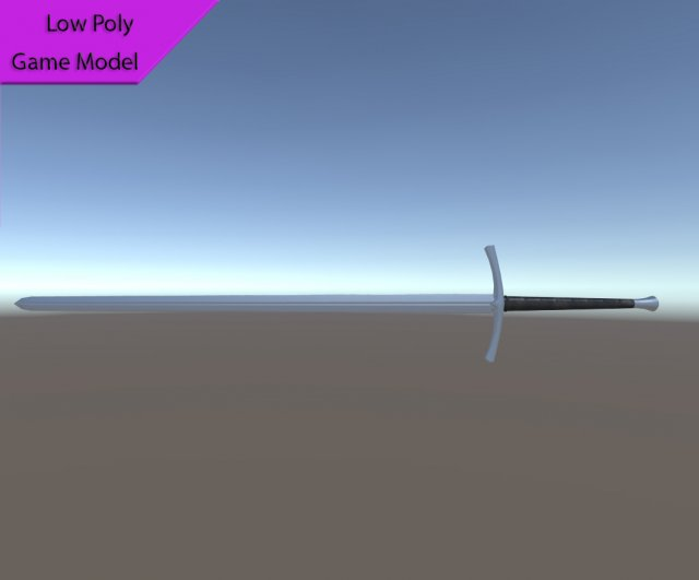 Bastard Sword 3D Model