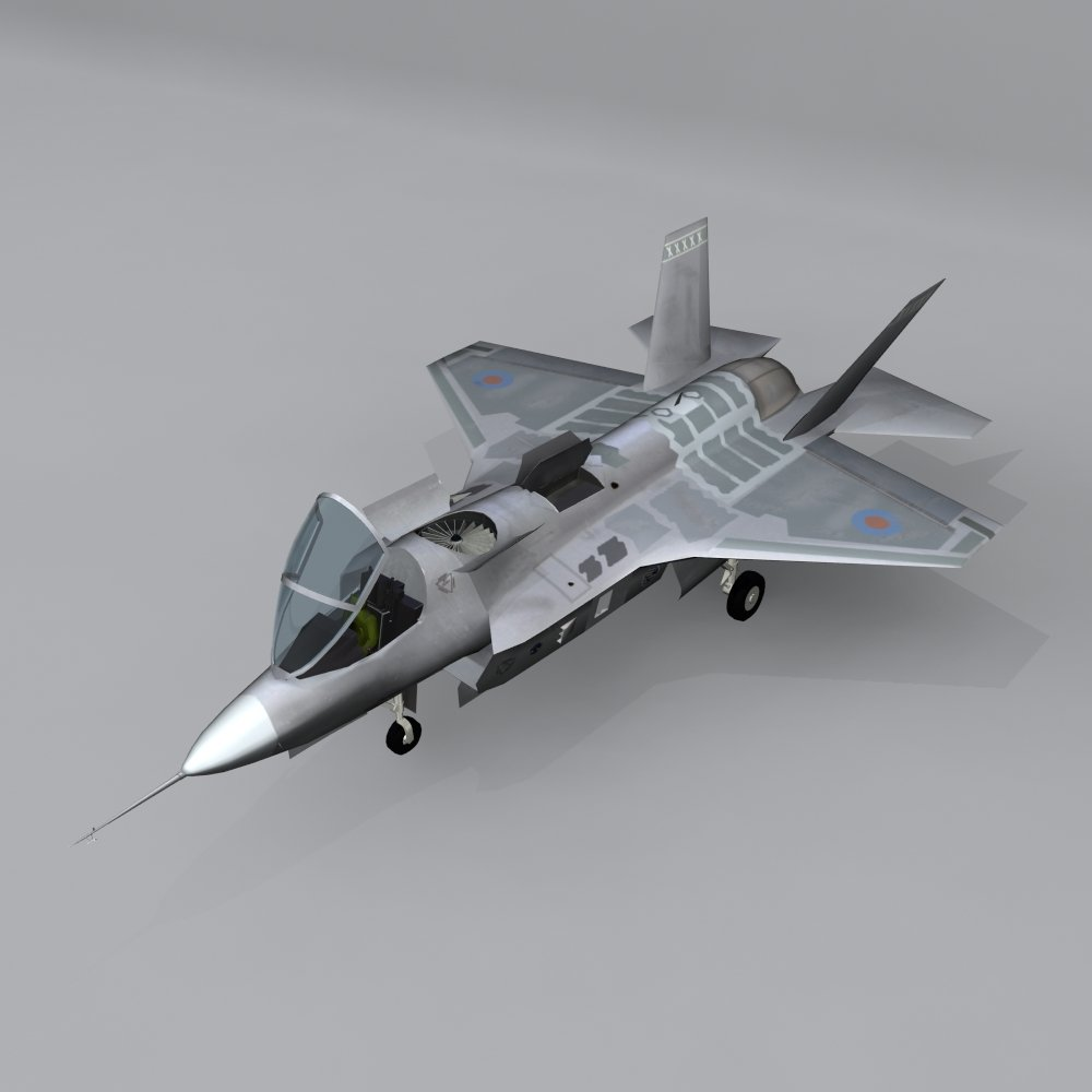 Aircraft X-35 Free 3D Model in Fighter 3DExport