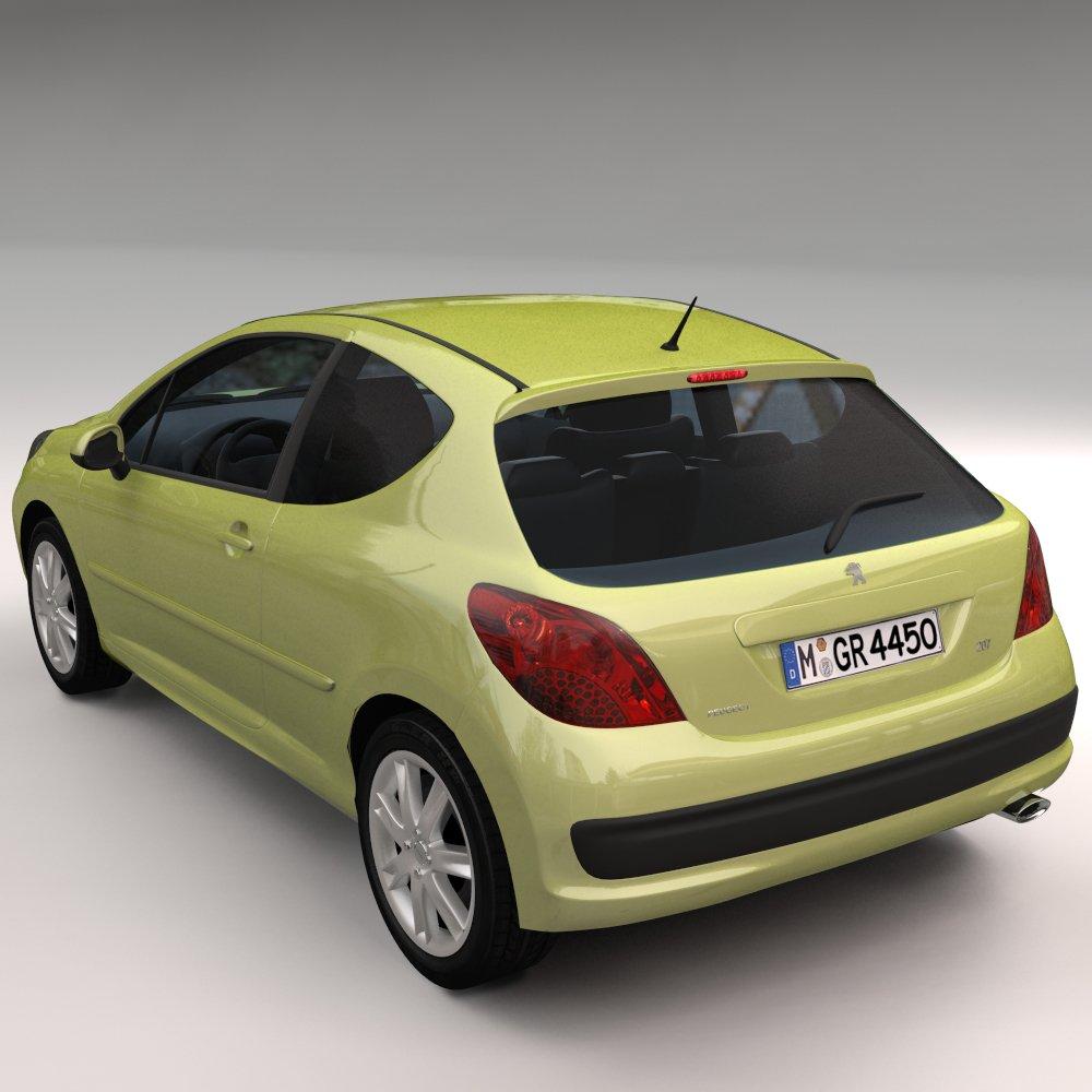Peugeot 207 3d model in sedan 3dexport peugeot 207 3d model fandeluxe Images