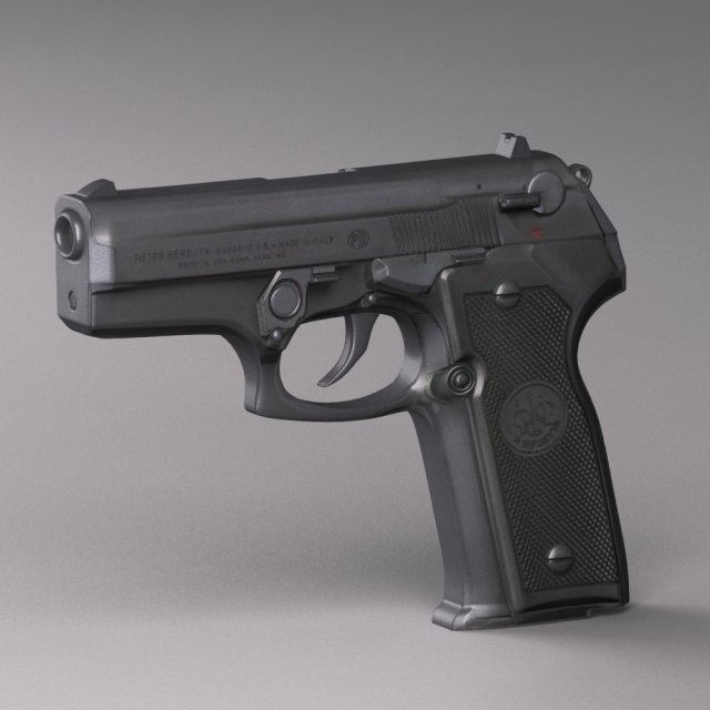 Handgun beretta Cougar 8000 Series 3D Model