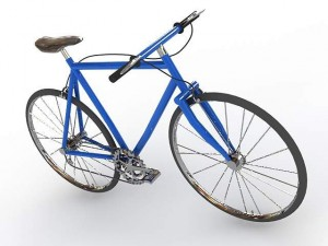 Sport blue bicycle
