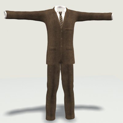 Man Suit 1 3D Model