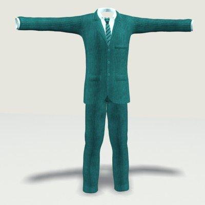 Suit 2 3D Model