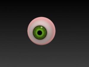 Realistic eye Green