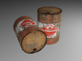 Flammable Oil Drum