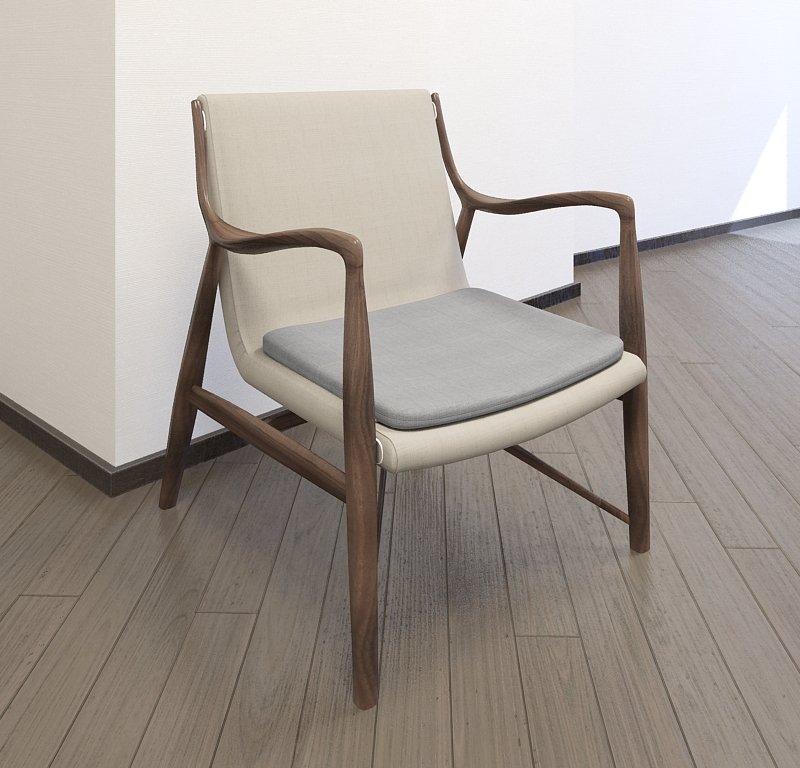 & Finn Juhl chair model 45 3D Model in Chair 3DExport