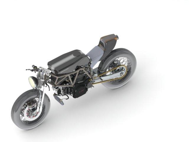 Ducati bobber detailled 3D Model