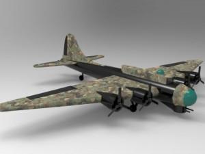 B 17 bomber aircraft