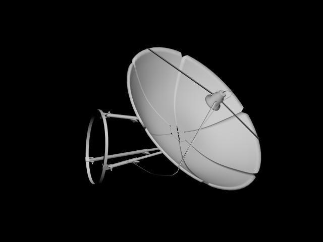 Elektronika sputnikovaya tarelka 3D Model