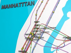 New York City Not Official Subway Map