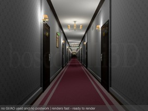 Fancy Hotel Corridor Ready to Render