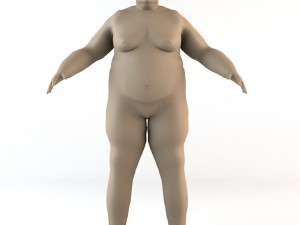 Overweight Caucasian Male Human Character