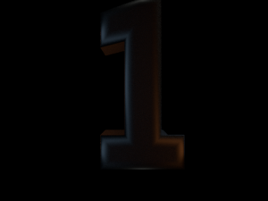 Black Semi Glossy Numbers 1-10