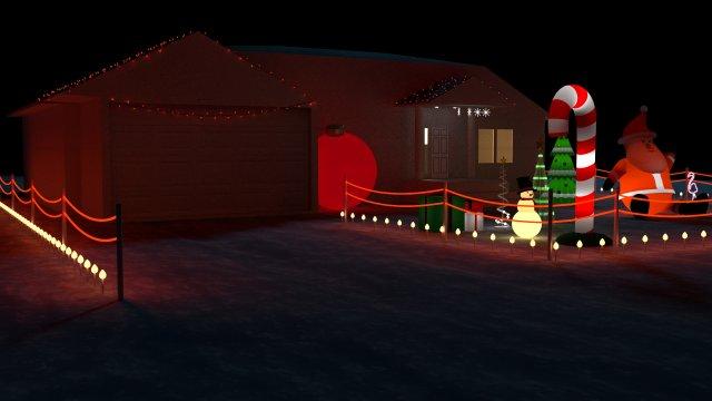 Christmas house bundle 3D Model