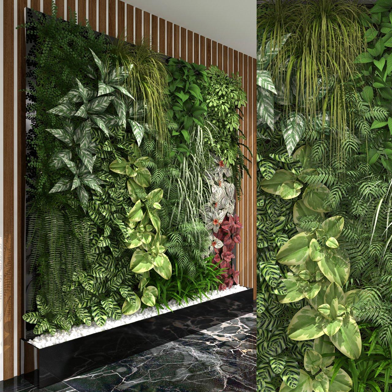 Green Wall 3d Model In Small Plants 3dexport