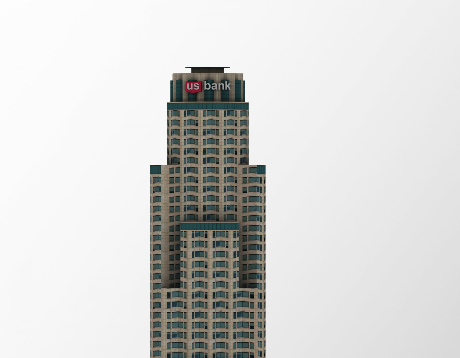 US Bank Tower 3D Model in Buildings 3DExport