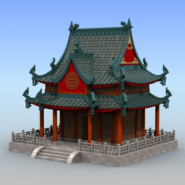 Chinese Architecture 04 3D Model