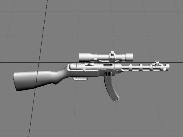 PPSH41 scope 3D Model