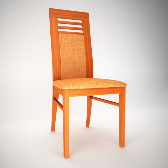 Download free Cezar Dining Chair 3D Model