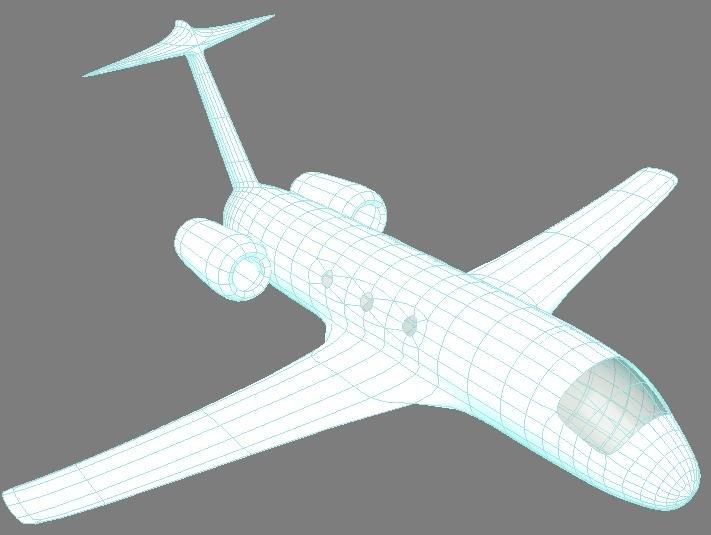 Low poly plane 3D Model in Commercial 3DExport