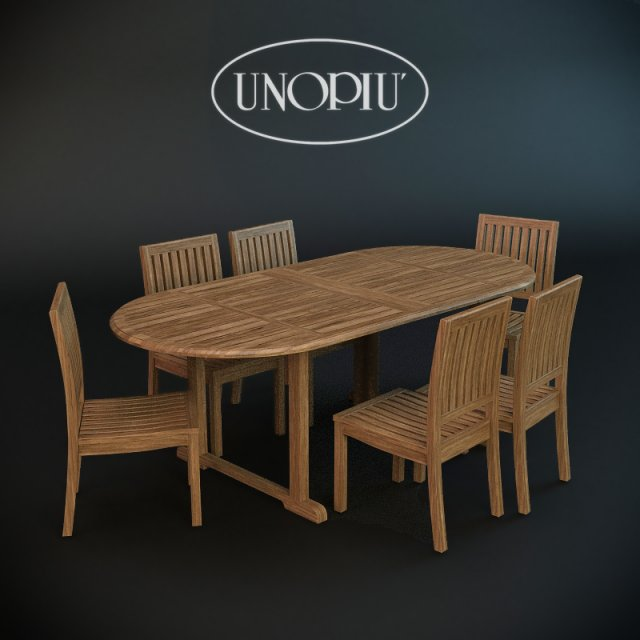 garden chair and table lydiatamil 3d model