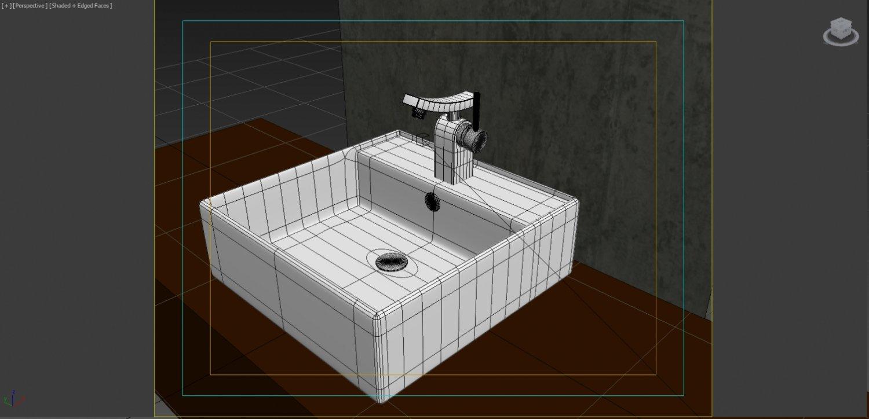 Modern Faucet Sink Kraus Unicus 3D Model in Bathroom 3DExport