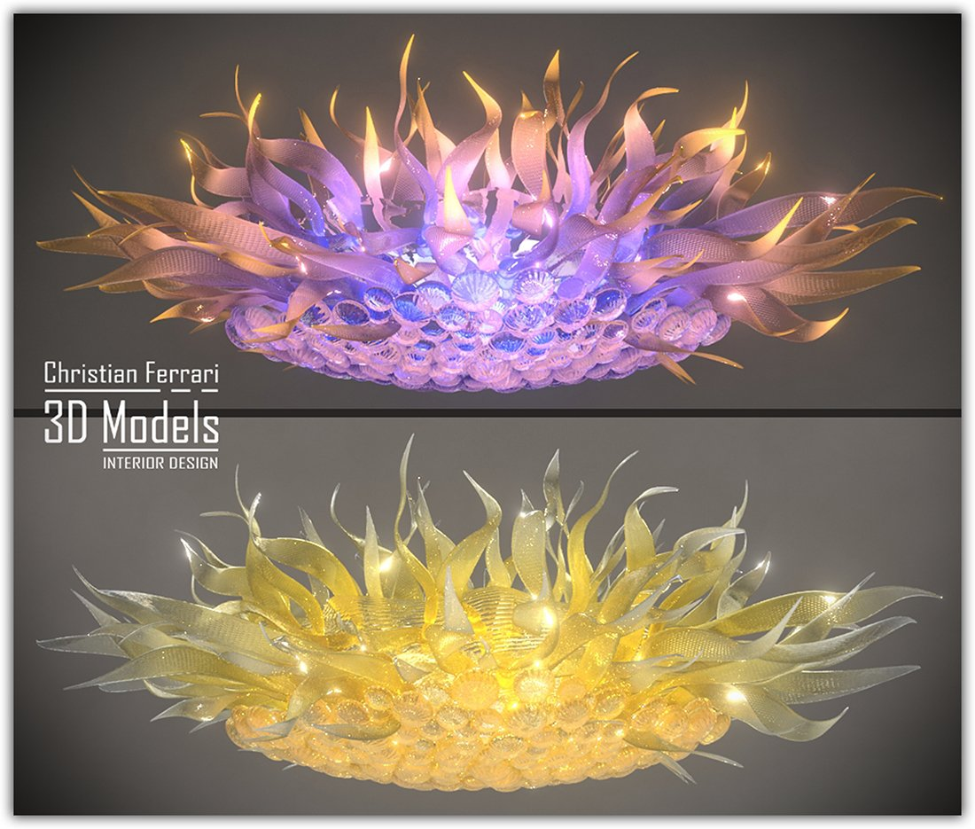 Design Crystal Chandelier 3d Model