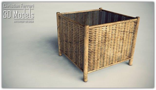 Wicker Coffee Table 3D Model